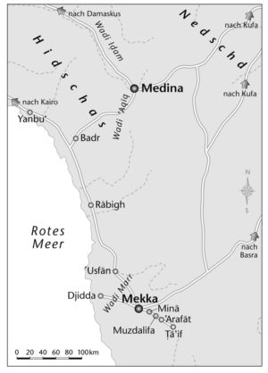 Medina und Mekka in Arabien