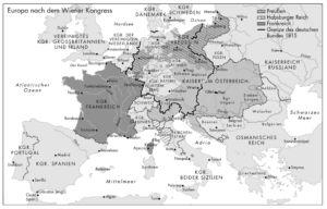 Europa nach dem Wiener Kongreß 1815