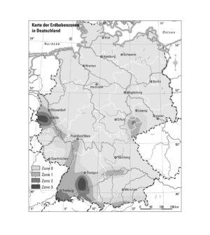 Erdbebenzonen in Deutschland