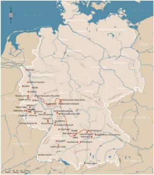 Fundorte zu den Römern in Deutschland
