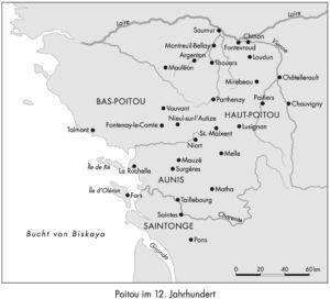 Poitou im 12. Jahrhundert