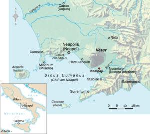 Italien Golf von Neapel (Vesuv)