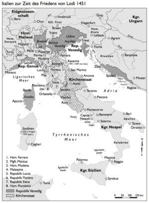 Italien 1451 (Frieden von Lodi)
