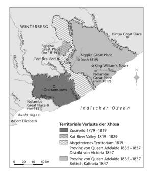 Xhosa in Südafrika 1779 bis 1847