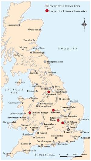 York und Lancaster in England 1459 bis 1485