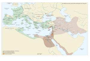 Römische Reich und das Herrschaftsgebiet der Kleopatra