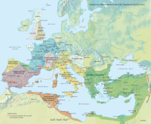 Europa zum Tode Theoderichs 526