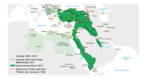 Osmanisches Reich 1881 bis 1922