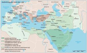 Ausbreitung des Islam 622 bis 750