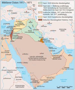Mittlerer Osten 1917 bis 1971