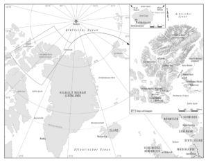 Grönland und Ellesmere-Insel