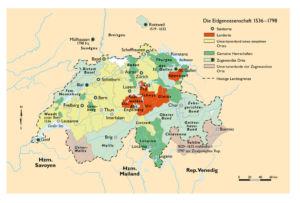 Schweiz 1536 bis 1798