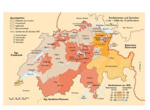 Konfessionen und Sprachen in der Schweiz