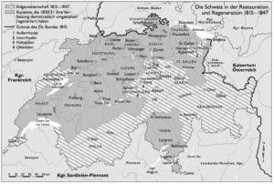 Schweiz 1815 bis 1847