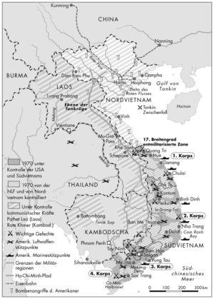 Kambodscha und Vietnam 1970