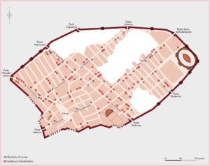 Pompeji Brunnen und Gasthäuser