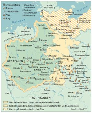 Herzogtum Sachsen 1170