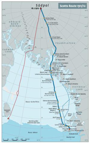 Amundsen und Scott am Südpol 1911