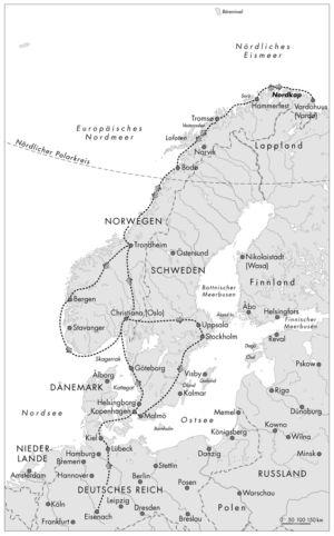 Reise an das Nordkap