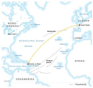 Regatta im Atlantische Ozean