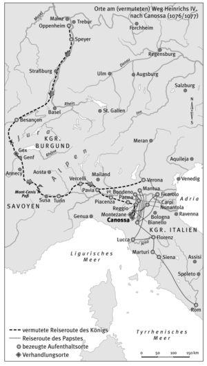 Heinrich V. auf dem Weg nach Canossa