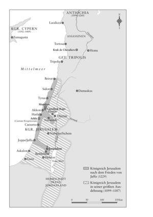 Königreich Jerusalem 1099 bis 1229
