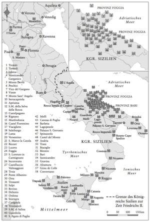 Königreich Sizilien zur Zeit Friedrichs II.