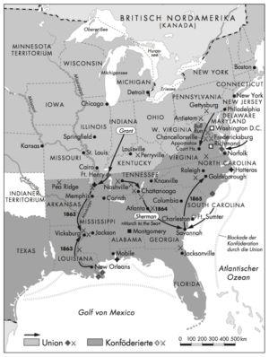 Bürgerkrieg in den USA 1861 bis 1865