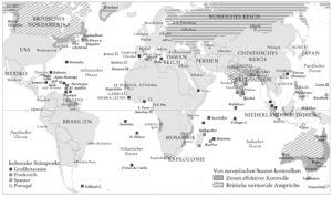 Koloniale Stützpunkte in der Welt