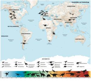 Fundstätten von Dinosauriern