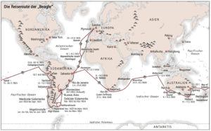 Charles Darwin, Reise mit der »Beagle«