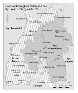 Baden und Württemberg 1815