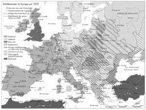 Konfessionen in Europa 1570
