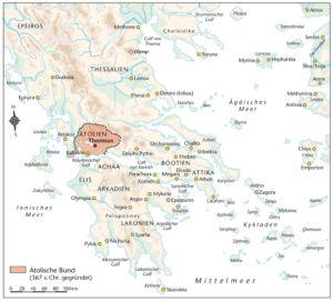 Griechenland und der Ätolische Bund 367 vor Christus