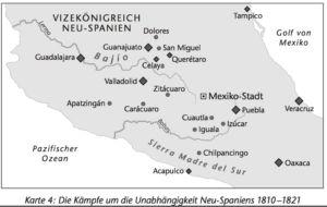 Neu-Spanien 1810 bis 1821
