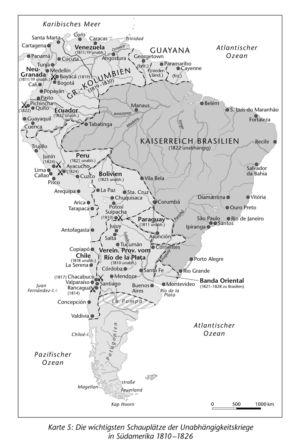 Südamerika 1810 bis 1826