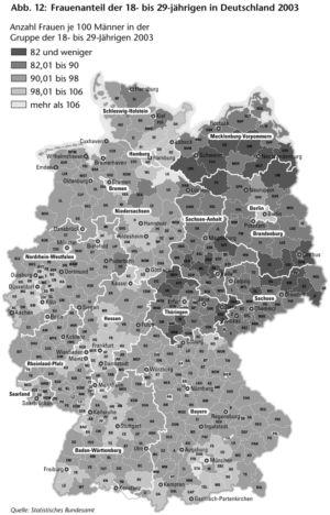 Frauenanteil in Deutschland 2003