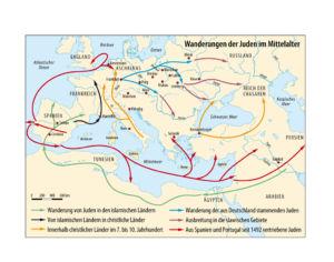 Jüdische Wanderungen in Europa im Mittelalter