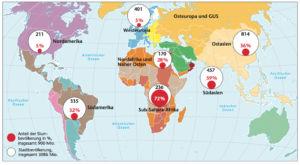 Slumbevölkerung in der Welt 2008