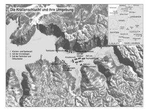 Krallenschlucht in Jordanien (fiktive Karte)