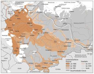 Landwirtschaftliche Nutzung 1900 bis 1991