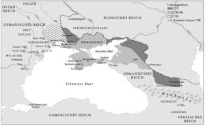 Gebietsgewinn Russlands von 1774 bis 1792