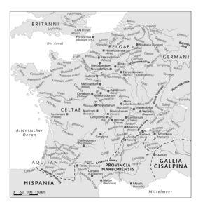 Gallien zur Zeit Caesars 58 v.Chr.