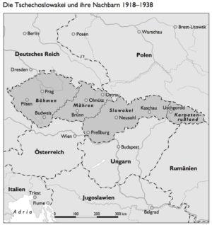 Tschechoslowakei 1918 bis 1938