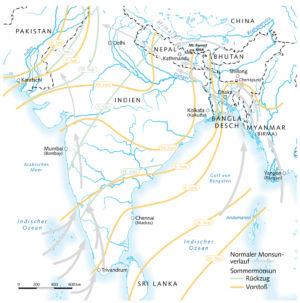 Südasien und der Monsun