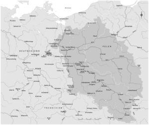 Deutschland, Polen und die Oder (polnische Namen)