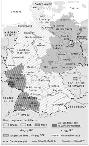 Besatzungszonen in Deutschland
