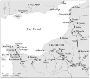 Weg nach Calais 1346