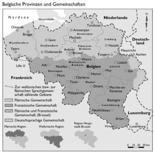 Belgische Provinzen und Gemeinschaften