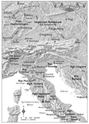 Norditalien und die Alpen zur Zeit der Kreuzzüge